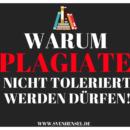 Warum Plagiate nicht toleriert werden dürfen!